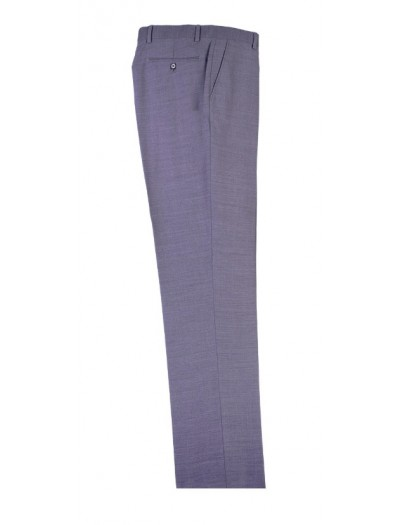 Men's Flat-Front Pants by Tiglio - Lt Gray