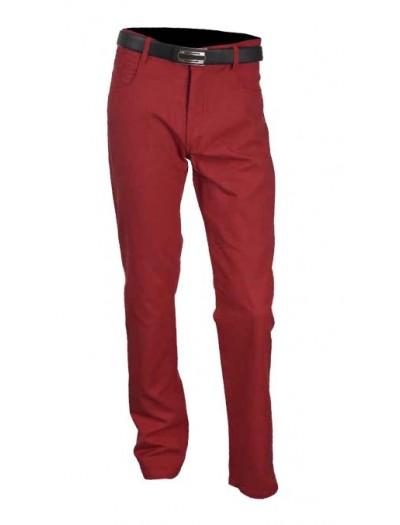 Men's Cotton / Linen Pants by Merc/InSerch - Cranberry