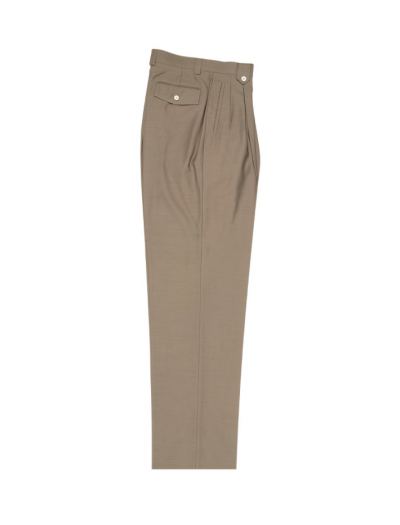 Men's Wide Leg Pleated Pants by Tiglio - 2586/2576 Taupe