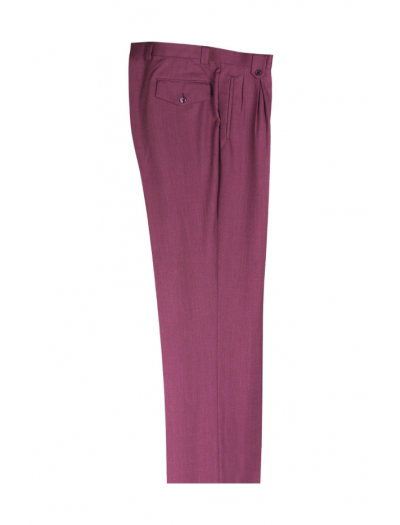 Men's Wide Leg Pleated Pants by Tiglio - 2586/2576 Raspberry