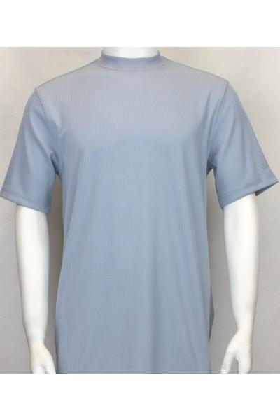 Bassiri S/S Mens Knit Microfiber T-Shirt - Blue