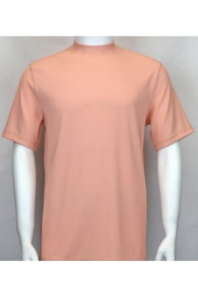 Bassiri S/S Mens Knit Microfiber T-Shirt - Peach