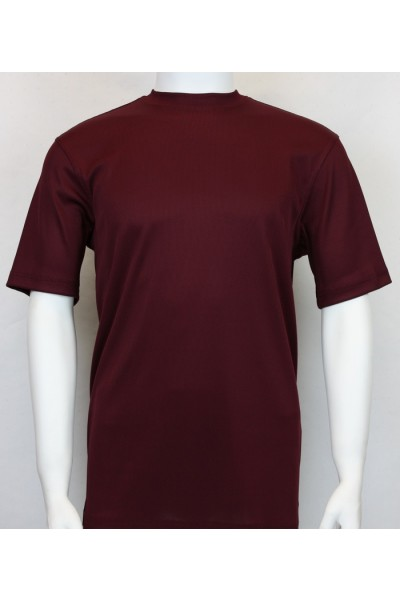 Bassiri S/S Mens Knit Microfiber T-Shirt - Plum