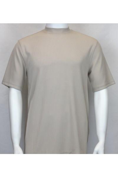 Bassiri S/S Mens Knit Microfiber T-Shirt - Tan