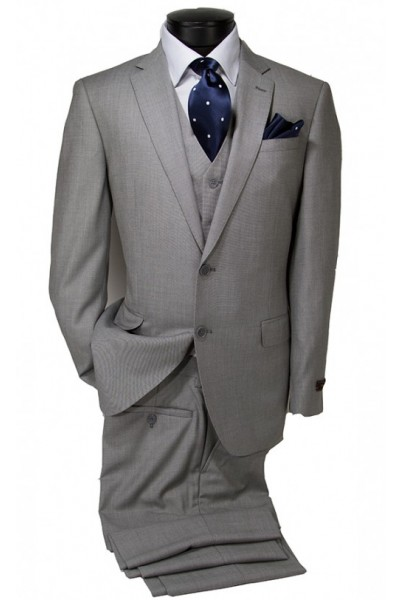 Vitarelli Mens Suit Light Gray