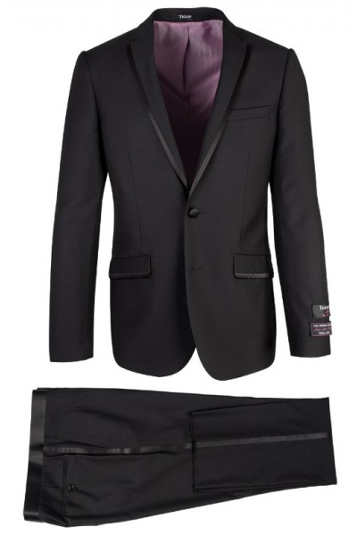 Asti Black Slim Fit Tuxedo by Tiglio Luxe