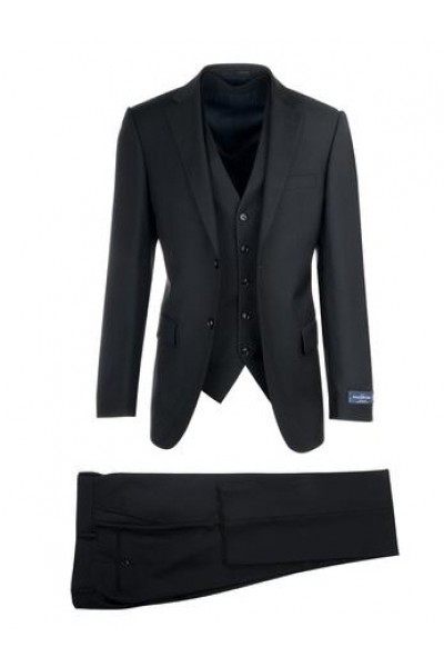 Canaletto Slim Fit 3 Pc Suit by Tiglio - Como SV Black