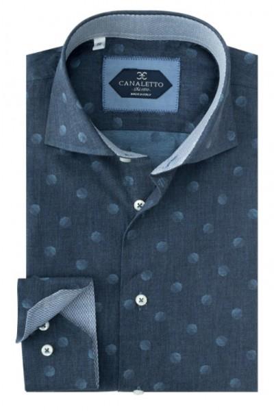 Tiglio / Canaletto L/S Sport Shirt - Blue / Dot a