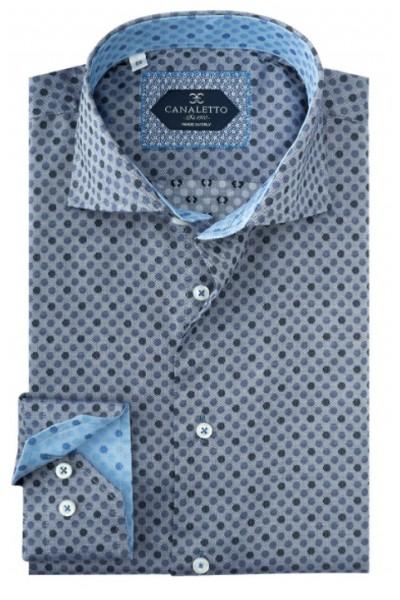Tiglio / Canaletto L/S Sport Shirt - Grey / Mini Dots a