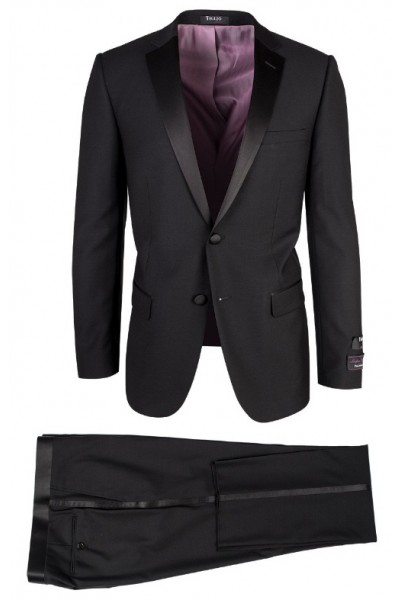 Dandy Black Slim Fit Tuxedo by Tiglio Luxe