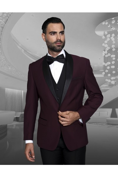 Men's Fashion Tux by STATEMENT - Encore Burgundy
