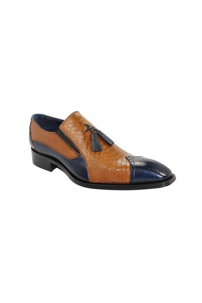 Duca by Matiste Men's Shoes - Made in Italy - Genoa Navy/Camel