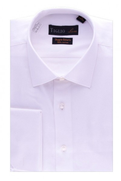 French Cuff Men's Dress Shirt by Tiglio - Lt Pink