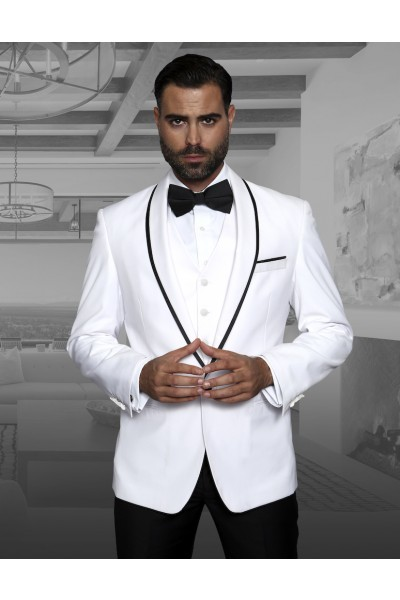 Men's Fashion Tux by STATEMENT - Genova White