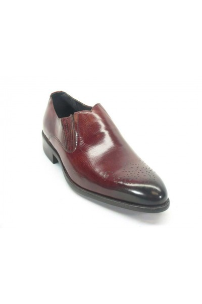 Men's Slip On Leather Loafers by Carrucci - Burgundy
