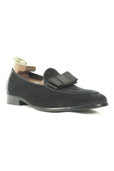 Men's Fashion Shoes by Carrucci - Gray Velvet / Bow