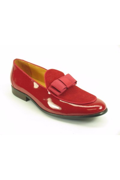 Men's Fashion Shoes by Carrucci - Duo / Bow Red