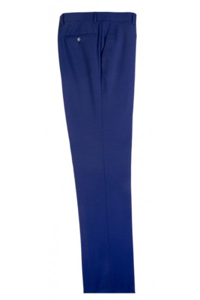 Men's Flat-Front Pants by Tiglio - French Blue