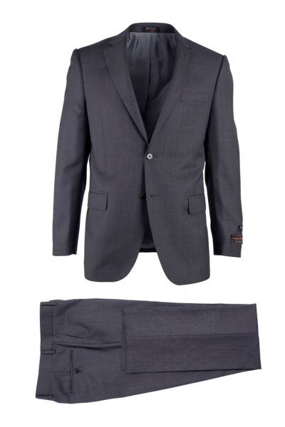 Novello Modern Fit Luxe Suit by Tiglio - Gray Birdseye