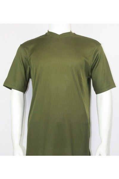 Olive Bassiri S/S Mens V-Neck Knit Microfiber T-Shirt
