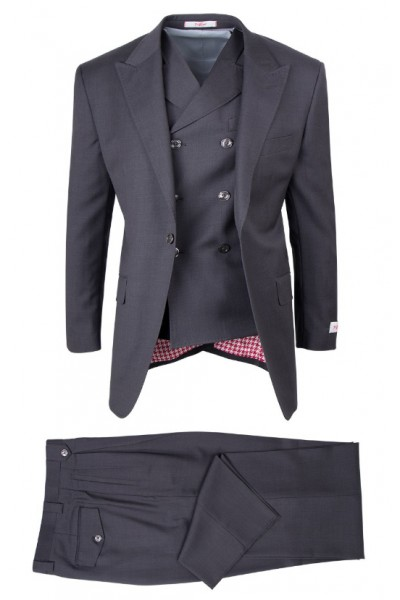 San Giovesse Full Cut Men's Suit  by Tiglio Rosso -  Dk Grey
