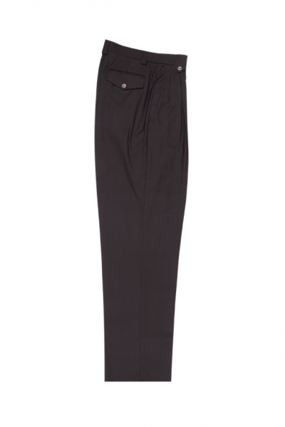 Men's Wide Leg Pleated Pants by Tiglio - 2586/2576 Wine