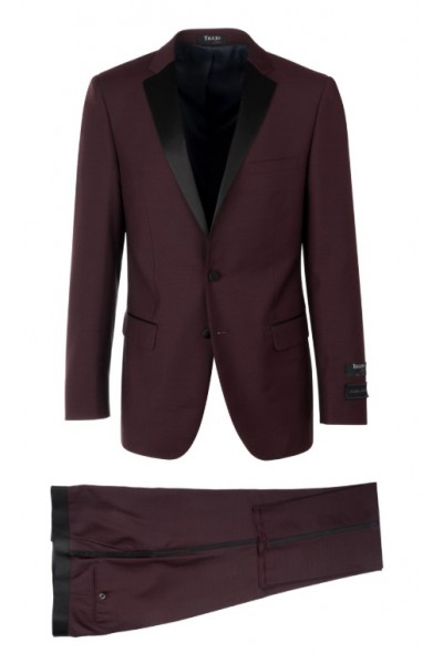 Slim Fit Tuxedo by Tiglio Luxe - Sienna Burgundy