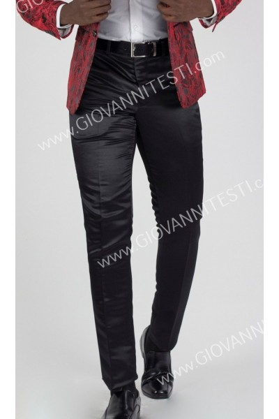 Giovanni Testi Slim Fit Satin Pants - Available in 7 Colors