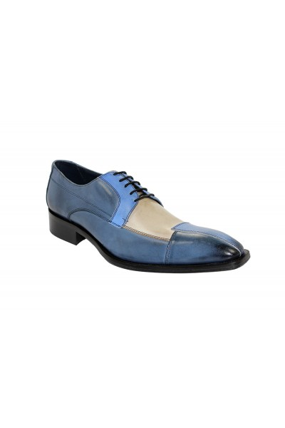 Duca by Matiste Men's Shoes - Made in Italy - Torino - Blue Combo