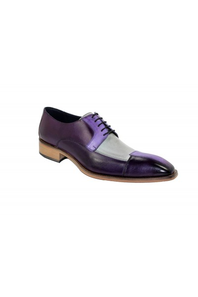 Duca by Matiste Men's Shoes - Made in Italy - Torino - Purple Combo