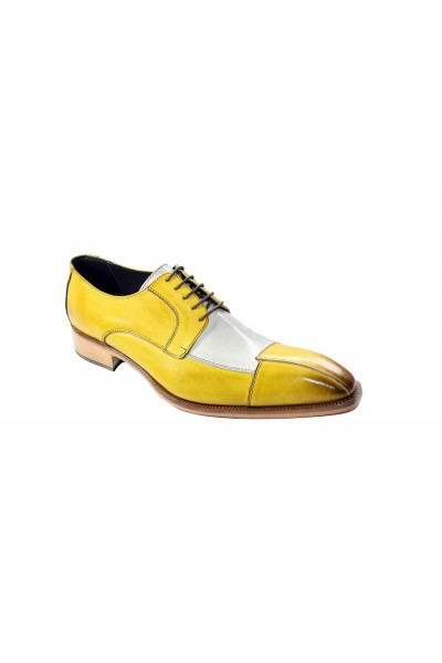Duca by Matiste Men's Shoes - Made in Italy - Torino - Yellow Combo