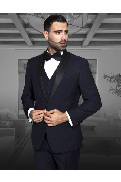 Men's Fashion Tux by STATEMENT - Navy Tux
