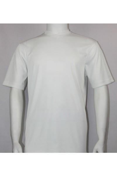 Bassiri S/S Mens V-Neck Knit Microfiber T-Shirt - White
