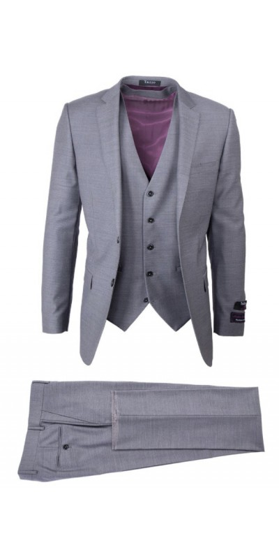 Tiglio Lux 3 Pc Slim Fit Men's Suit  - Sienna Gray
