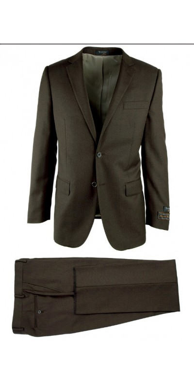 Novello Modern Fit Luxe Suit by Tiglio - Charcoal Birdseye