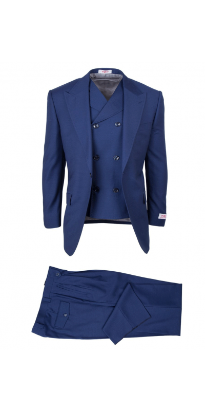 San Giovesse Full Cut Men's Suit  by Tiglio Rosso - San Giovesse Full Cut Men's Suit  by Tiglio Rosso - French Blue