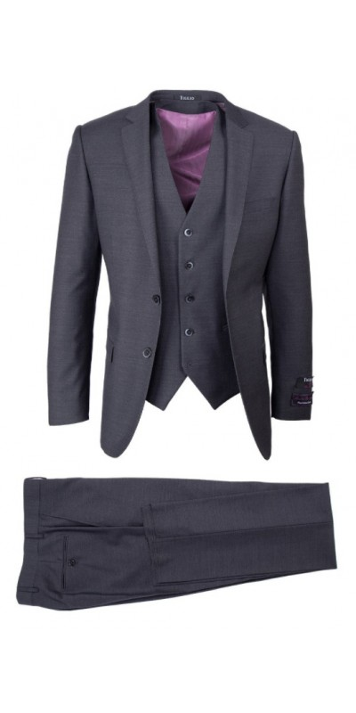 Tiglio Lux 3 Pc Slim Fit Men's Suit  - Sienna Grey