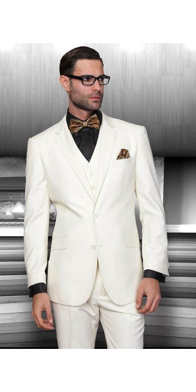 Men's 3 Pc Fashion Suit by STATEMENT - Off White